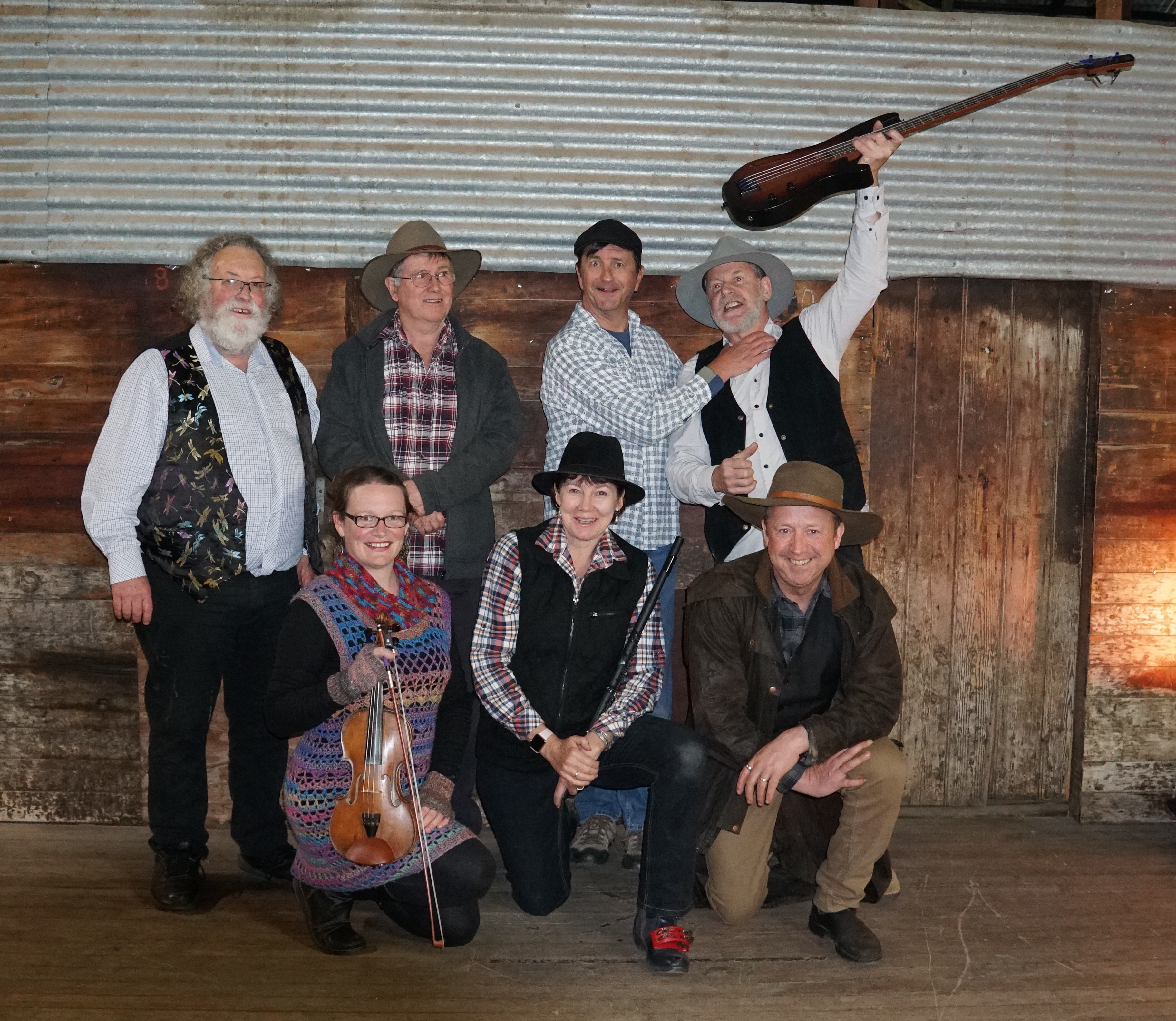 members of Paverty Bush Band