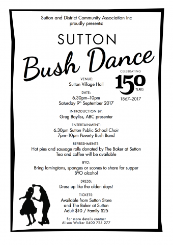 poster: Sutton Bush Dance