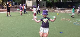 kids playing at O'Connor Coop School