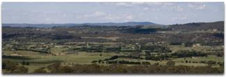 Womboin in the Clare Valley - from high on a hill showing the landscape