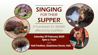 poster says Singing for their supper