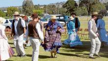 Members of the Canberra Bush Dancing Display Group at last year's Gold Trail Festival.