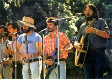 paverty members singing in 1974