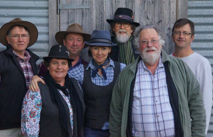 The Pavs: Graham Chalker, Mary Firkins, John Taylor, Simone Dawson, Bryan Rae, Bob Buckley, Rick Kenyon